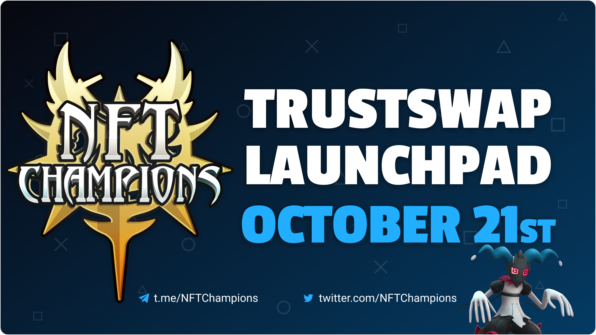 NFT Champions Announces October 21st Token Sale on TrustSwap Launchpad